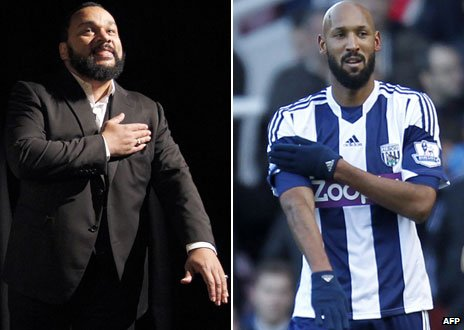 Anelka gesture comic Dieudonne banned from UK