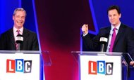 Nick Clegg clashes with Nigel Farage in EU debate
